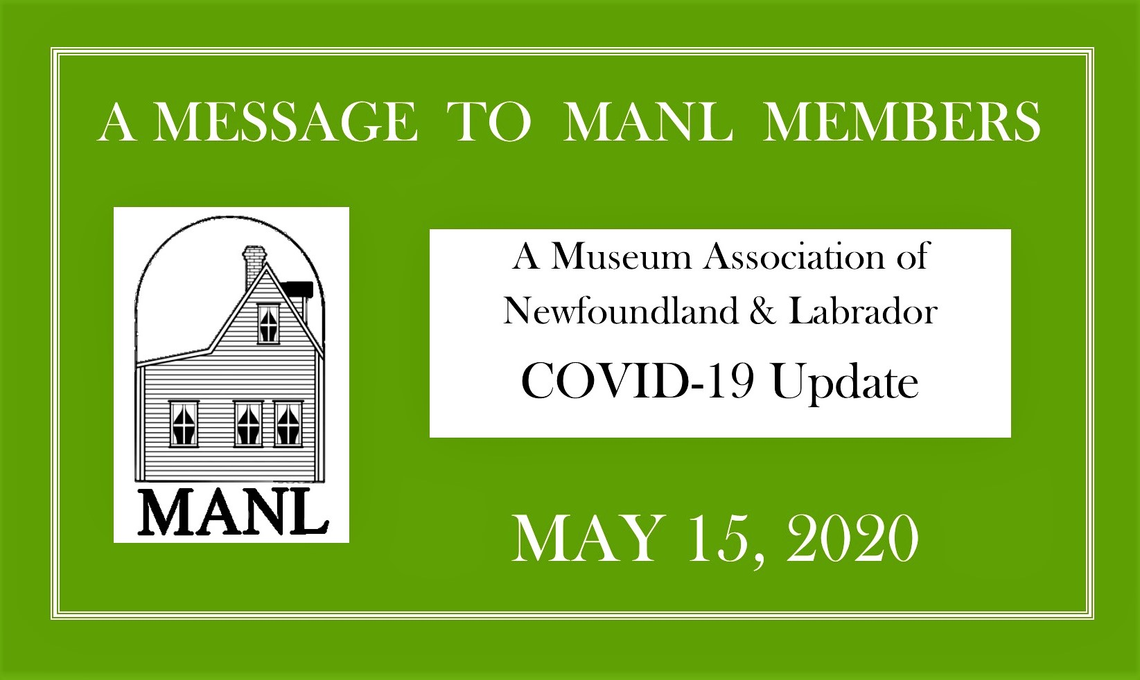 MESSAGE TO OUR MEMBERS May 15